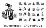 Deposit Icons Set. Simple Set...