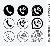 contact us icons vector set... | Shutterstock .eps vector #1405490921