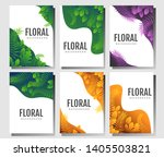 set of brochure with floral and ... | Shutterstock . vector #1405503821