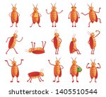 Pests Cockroach Vector Icons...