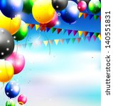 balloons in the sky for... | Shutterstock .eps vector #140551831