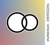 wedding rings sign. black icon... | Shutterstock .eps vector #1405522241
