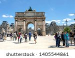 paris  france   may 16  2019  ... | Shutterstock . vector #1405544861