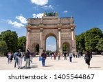 paris  france   may 16  2019  ... | Shutterstock . vector #1405544867