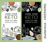 keto flyer healthy food low... | Shutterstock .eps vector #1405544981