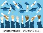 graduating students pupil hands ...   Shutterstock .eps vector #1405547411