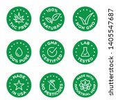 cbd oil icons set including thc ... | Shutterstock .eps vector #1405547687