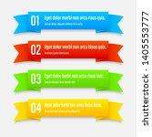 gradient infographics banners.... | Shutterstock .eps vector #1405553777