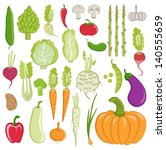 set of healthy vegetables | Shutterstock .eps vector #140555659