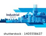 the industrial plant and... | Shutterstock .eps vector #1405558637