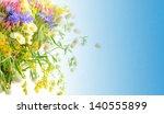 bouquet of summer flowers  with ... | Shutterstock . vector #140555899