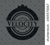velocity realistic dark emblem. ...   Shutterstock .eps vector #1405570067