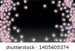 vector realistic pink petals... | Shutterstock .eps vector #1405605374