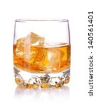 brandy glass with ice isolated... | Shutterstock . vector #140561401