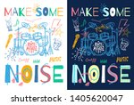 music slogan graphic for t... | Shutterstock .eps vector #1405620047