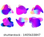 set of abstract modern graphic... | Shutterstock .eps vector #1405633847