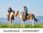 cowboys on horseback.cowboys... | Shutterstock . vector #1405642847