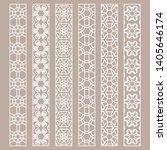 vector set of line borders with ... | Shutterstock .eps vector #1405646174