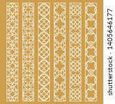 vector set of line borders with ... | Shutterstock .eps vector #1405646177