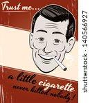 Cigarette Smoking Cartoon Man