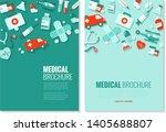 brochure template   medical... | Shutterstock .eps vector #1405688807