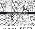memphis seamless patterns.... | Shutterstock . vector #1405696574