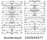 Decorative page divider. Vintage decor lines, luxury wedding frame line and ornate swirl dividers. Border frames, ornate swirls floral pages divider. Calligraphic isolated  icons set