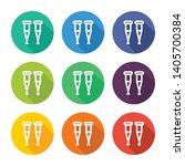 icon illustration of crutch... | Shutterstock .eps vector #1405700384