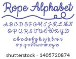 sea style rope characters font  ...   Shutterstock .eps vector #1405720874