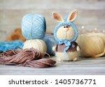 handmade knitted toy. amigurumi ...   Shutterstock . vector #1405736771
