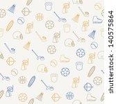 sport seamless pattern | Shutterstock .eps vector #140575864
