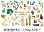 hand drawn fresh delicious... | Shutterstock .eps vector #1405763474