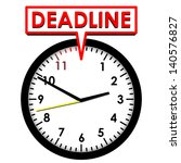 clock with deadline | Shutterstock .eps vector #140576827