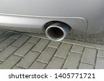 car exhaust pipe smoke fumes | Shutterstock . vector #1405771721