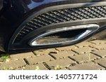 car exhaust pipe smoke fumes | Shutterstock . vector #1405771724