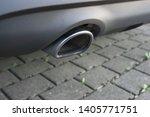 car exhaust pipe smoke fumes | Shutterstock . vector #1405771751