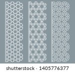 vector set of line borders with ... | Shutterstock .eps vector #1405776377