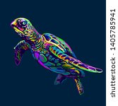 sea turtle. abstract  artistic  ...   Shutterstock .eps vector #1405785941