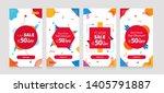 dynamic modern geometry mobile... | Shutterstock .eps vector #1405791887