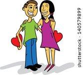 kids in love   Shutterstock .eps vector #140579899