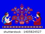 ukrainian and crimean tatar... | Shutterstock .eps vector #1405824527