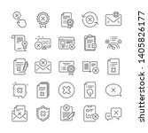 reject or cancel line icons.... | Shutterstock .eps vector #1405826177