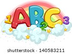 illustration of abc and 123 on... | Shutterstock .eps vector #140583211