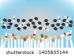 graduating students pupil hands ...   Shutterstock .eps vector #1405835144