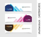 vector abstract web banner... | Shutterstock .eps vector #1405841831