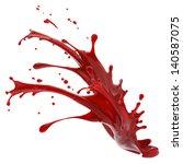 Splashes Of Red Liquid Isolate...