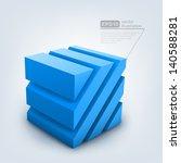 vector illustration of 3d cube | Shutterstock .eps vector #140588281