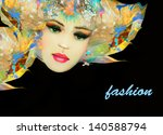 fashion woman. hand painted... | Shutterstock . vector #140588794