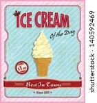 vintage ice cream sundae poster | Shutterstock .eps vector #140592469