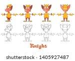vector illustration of a cute... | Shutterstock .eps vector #1405927487